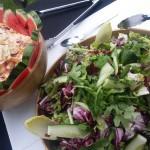 Freshly Prepared Green Leaf Salads And Coleslaw