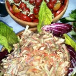 Fresh Salad And Coleslaw